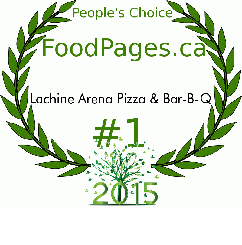 Lachine Arena Pizza & Bar-B-Q FoodPages.ca 2015 Award Winner